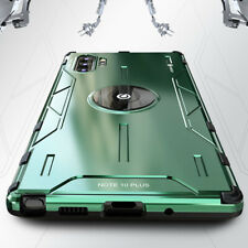 For Samsung Galaxy Note 9 10 Plus S10 Metal Silicone Kickstand Shockproof Case