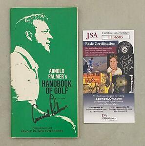 Arnold Palmer Signed 1971 Handbook of Golf Booklet Autographed JSA COA