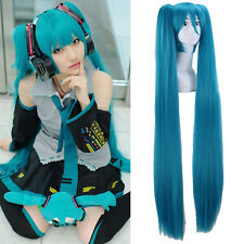 Hot Vocaloid Hatsune Miku Show Anime Costume Cosplay Party Hari wigs + Wig Cap