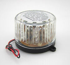 12V Waterproof Motorcycle Boat  Round Decorative LED Strobe Flashing Light Lamp