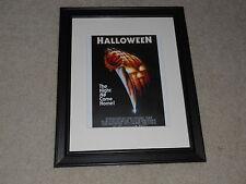 """Framed Halloween 1978 Mini-Poster, USA Pre-Release John Carpenter 14""""x17"""""""