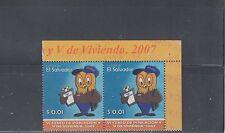 El Salvador 2007 Census Sc 1663 Pair Mint Never Hinged