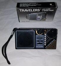 Vtg TRAVELERS LCD Clock 2 Bands Transistor Radio box Band Radios Model MFR 88