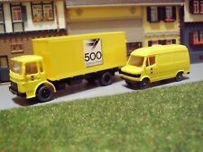 Konvolut Post DBP MAN 12.170 LKW + MB 207 D Transporter 1:87 H0 WIKING K485