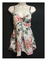 Joe Browns Botanical Floral Print Top Strappy Tunic Blouse Spring Summer Boho 8