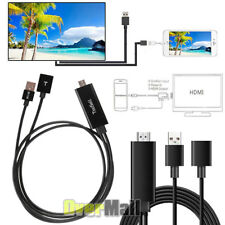Mini USB MHL To HDMI 1080P TV Adapter Cable HD For Samsung Galaxy S8 iPhone 8 7