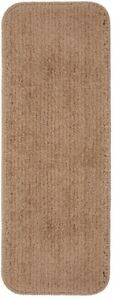9 in. x 26 in. Non-Slip Stair Tread Cover,  Stain Resistant, Beige (Set of 13)
