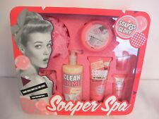 SOAP & GLORY SOAPER SPA 7 PIECE GIFT SET NEW (FROM TV COMMERCIAL)