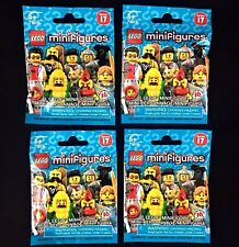 Lot of 4 LEGO 71018 Minifigures Series 17 Factory-Sealed Blind Bags