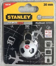 Stanley candado Tsa* Travel Sentry approved Balon Fútbol 2 llaves maleta bolso