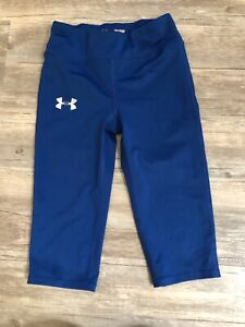 Under Armour girls youth small athletic tights Pants Blue