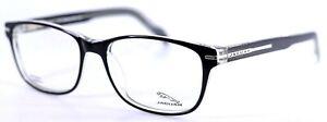 JAGUAR 39112 8738 Black Crystal Rectangular Mens Eyeglasses Frames 53-17-140