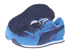 New Puma Kids Cabana Racer Mesh Jr Shoes Sneakers Blue Boy 6 youth fit 5