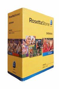 ROSETTA STONE SWEDISH SVENSKA - Version 4 - Level 1, 2, & 3  Language 16 Disc
