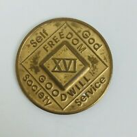Narcotics Anonymous 16 XVI Years Medallion English NA Token