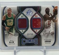 2009-10 SP Game Used Ray Allen Michael Jordan Combo Dual Jersey 33/50!