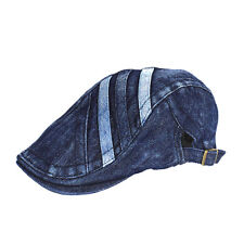 Denim Newsboy Jean Gatsby Cap Ivy Hat Golf Driving Summer Flat Cabbie BXG-PB