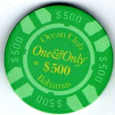 "James Bond ""Casino Royale:"" Ocean One, Bahamas, replica poker chip in film"