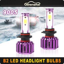2P 9005 Car LED Headlight Kit HB3 60W 9000LM Hi/Lo Beam White Light Bulb 8000K