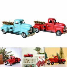 Vintage Metal Classic Rustic Pickup Truck Fit Christmas Tree Home Office Decor