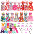 32 pcs Barbie Clothes Doll Fashion Wear Clothing outfits Dress up Gown Shoes Lot