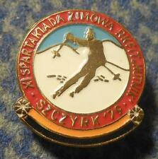 XI th SPARTAKIADE WINTER GAMES METALLURGISTS SKI SKIING POLAND SZCZYRK 1979 PIN