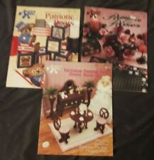 Lot 3 Vtg ANNIE'S ATTIC Leaflet Booklets Barbie Dining, Pat Bears, Romance Roses