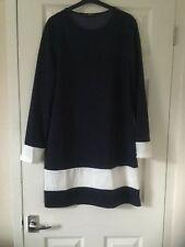 20e44bc0a9 Womens dress navy blue and white stripe size L new no tag funky design