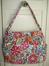 Vera Bradley VGUC Hope Garden Reversible Tote Purse Hobo Shoulder Bag #93