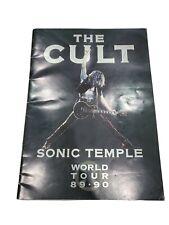 The Cult 1989 / 1990 Sonic Temple World Tour Concert Program Book / Ian Astbury