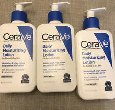 3 CeraVe Daily Moisturizing Lotion 8 fl oz Each! Normal to Dry Skin New
