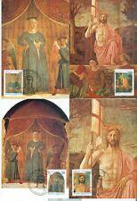 Vatican City Sc# 904-7: Death of Piero della Francesca, 4 Maxi Cards