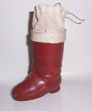 Age Christmas Boots from Cardboard Candy Container Before 1945 Vintage Decor