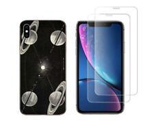 "iPhone XS MAX 6,5"" - Coque gel fantaisie solide + 2 verres trempés - Espace"