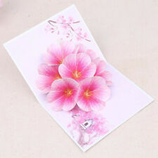 Valentine's Day Peach Blossom 3D Thank You Flower Greeting Card Anniversary Jian