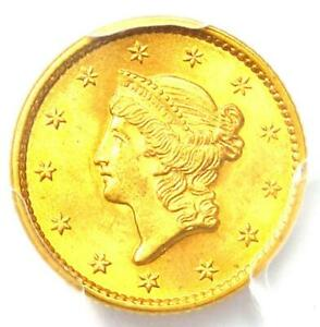 1852 Liberty Gold Dollar (G$1 Coin) - PCGS MS65 (Gem UNC BU) - $2,850 Value!