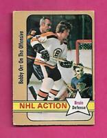 1972-73 OPC # 58 BRUINS BOBBY ORR ACTION VG CARD (INV# C5476)
