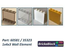 NEW & GENUINE Lego Part 60581 / 35323 1x4x3 Wall Element (Chs. 1,2,4,6,8 or 10)