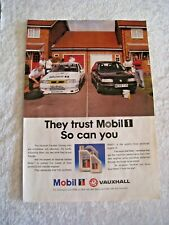 VAUXHALL CAVALIER TOURING CAR MOBIL 1 POSTER ADVERT READY FRAME A4 SIZE B