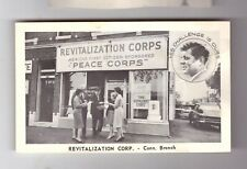 CONNECTICUT JOHN KENNEDY REVITALIZATION CORPS DOMESTIC PEACE CORPS POST CARD