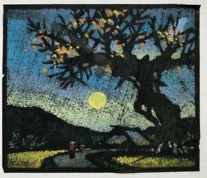 Luna HTF painting paper by Tran Hoa b 1937 VUFA & Paintings ...