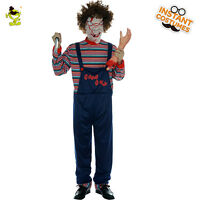 Bloody Clown Killer CostumeS Adults Man Cosplay For Halloween Party Show Dress