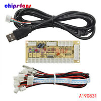 Zero Delay Arcade USB Encoder PC to Joystick MAME 5Pin Sanwa Push Button cable