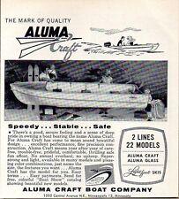 1958 Print Ad Aluma Craft Aluminum Boats Mark of Quality Minneapolis,MN
