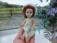 """50s Vintage Antique 9"""" Roddy Pedigree Walker Doll with Mohair Wig  Hat & Clothes"""