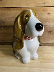 "The Pioneer Woman Cookie Jar Dog 11"" Basset Hound Charlie Ceramic"