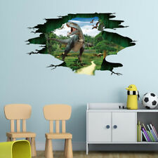 Creative 3D Wall Stickers Dinosaur Decal Children's Room Boys Bedroom Wallpaper