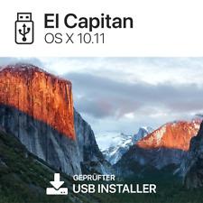 Mac OS X 10.11 El Capitan macOS Boot USB Stick BLITZVERSAND