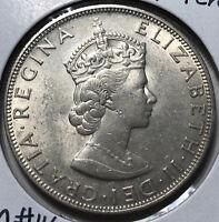 1964 Bermuda Queen Victoria 1 Crown Silver Coin