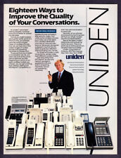 1984 Golf Legend Jack Nicklaus photo Uniden Telephones vintage promo print ad